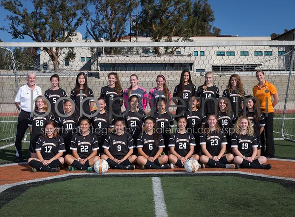Oxy Women's Soccer 2015 Team Photo