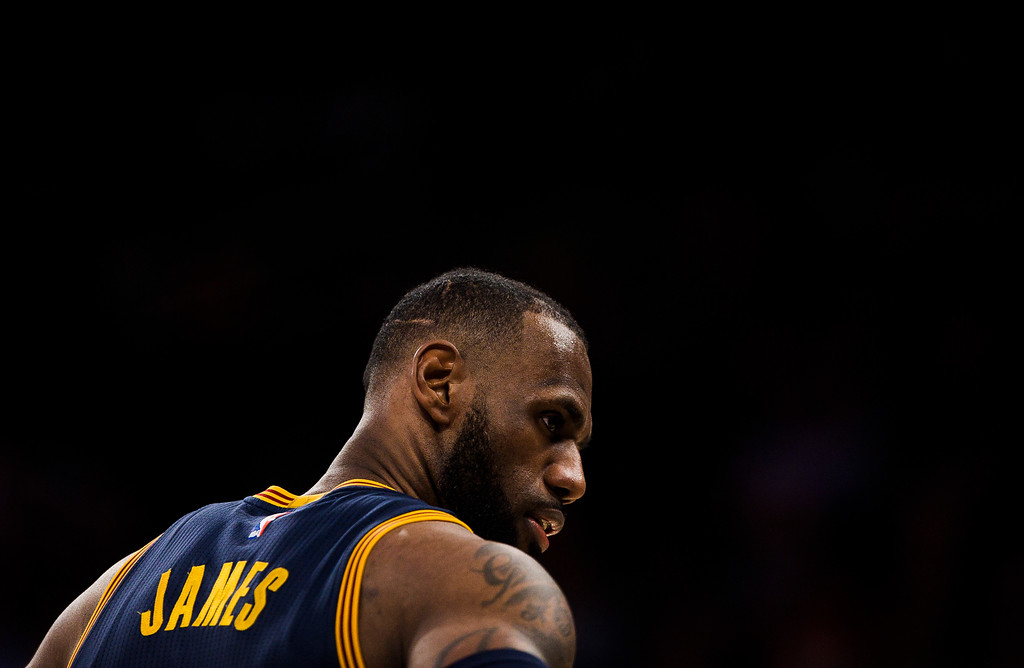 . Cleveland Cavaliers\' LeBron James, stands during the second half of the team\'s NBA basketball game against New York Knicks, Saturday, Feb. 4, 2017, in New York. (AP Photo/Andres Kudacki)