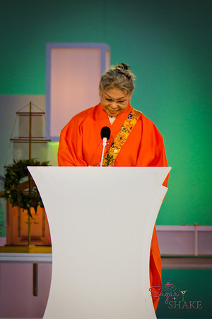Her Holiness Keishu Shinso Ito, the spiritual head of the Shinnyo-en Buddhist Order. © 2012 Sugar + Shake