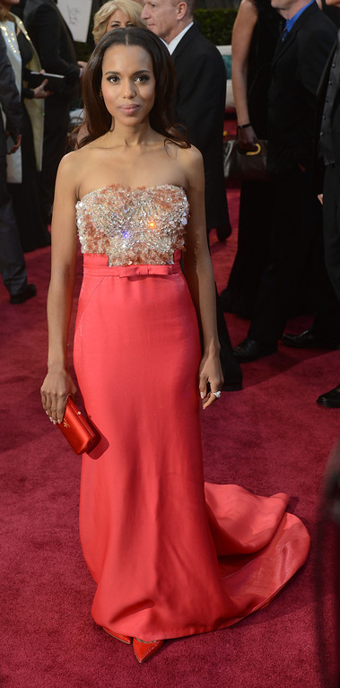 . Kerry Washington arrives at the 85th Academy Awards at the Dolby Theatre in Los Angeles, California on Sunday Feb. 24, 2013 ( Hans Gutknecht, staff photographer)
