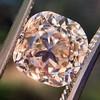 4.03ct Light Fancy Brown Antique Cushion Cut Diamond Halo Ring GIA LFB, SI1 54