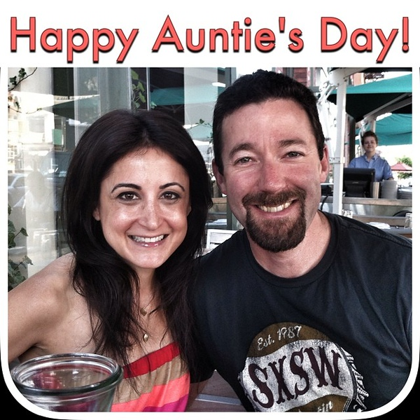 Wishing my friend @savvyauntie (and all the other aunts out there) a Happy Auntie's Day!