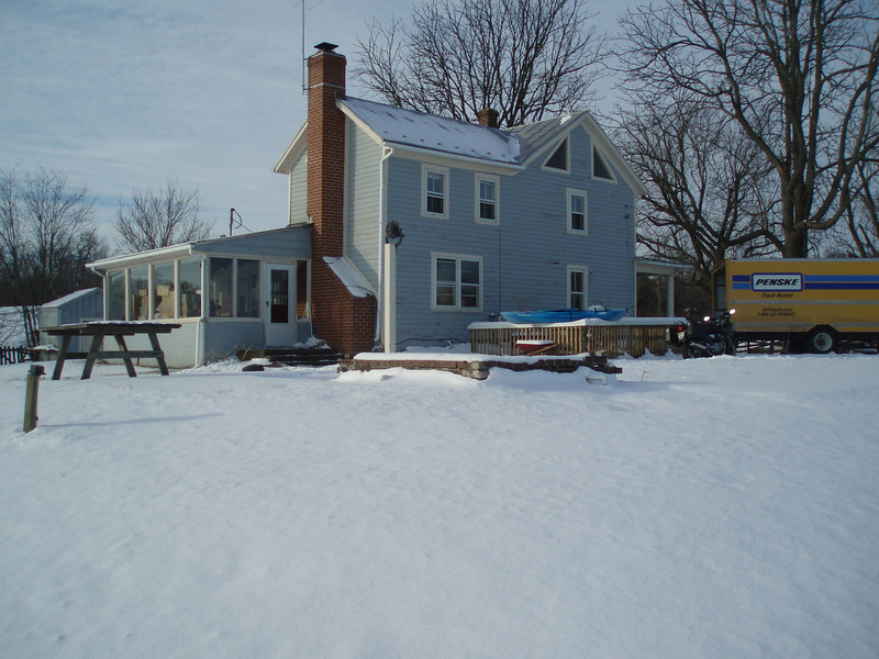 February 1, 2010: Snow around the house