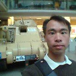 JC with Brit tank at imperial war museum