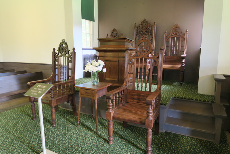 St. Philips African Moravian Church (ca. 1861) -- Pulpit