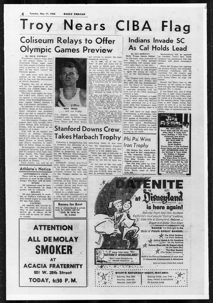 Daily Trojan, Vol. 51, No. 123, May 17, 1960