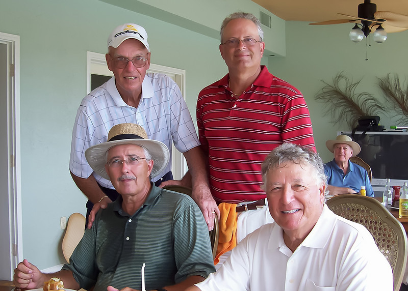 Saturday Golf With The Guys, Woody, Vince, Dick, Preston