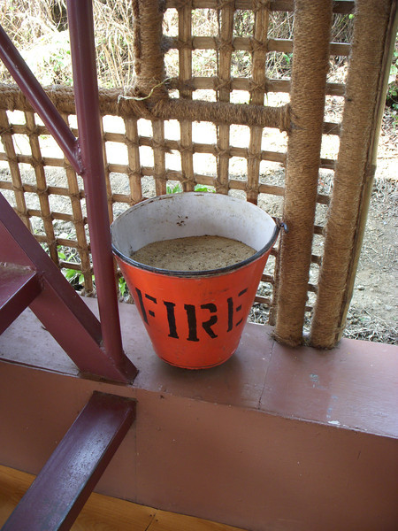 The Indian fire extinguisher on our house boat