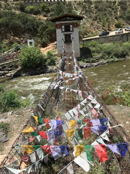 Iron bridge built in 1400's by Lama Chazampa - Thangtong Gyalpo (1385-1464)