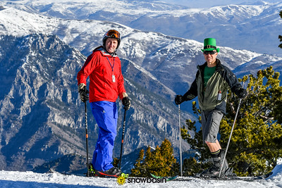 03172017      St. Patricks Day   Portraits and action on Allen Peak Tram and Porky's face