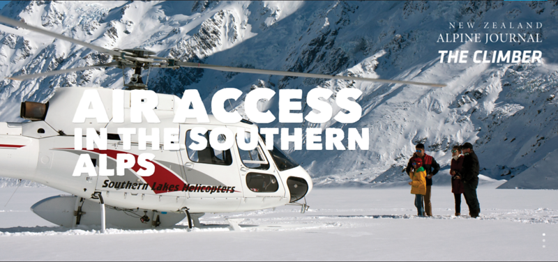 Air access in the Southern Alps
