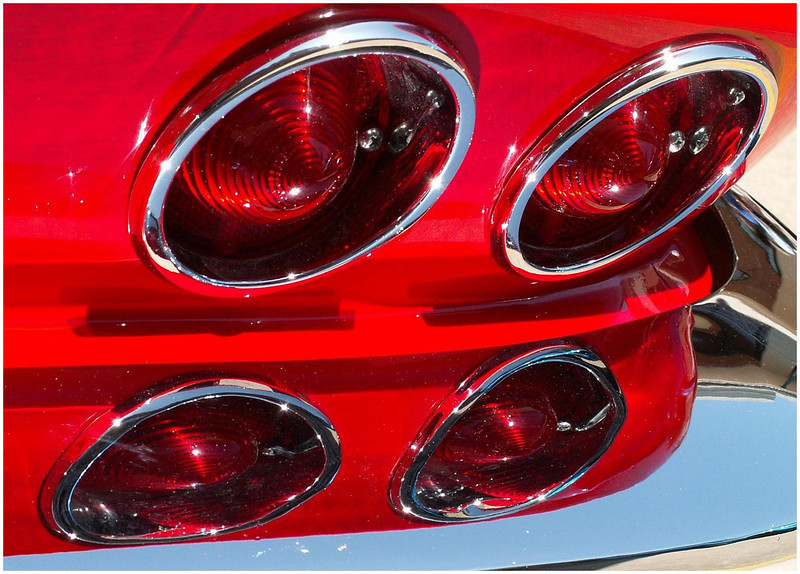 Vintage corvette taillight. There's no place like Chrome.