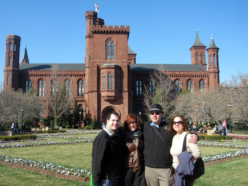 In front of the Smithsonian Institution Building (The Castle) (3/13/11)