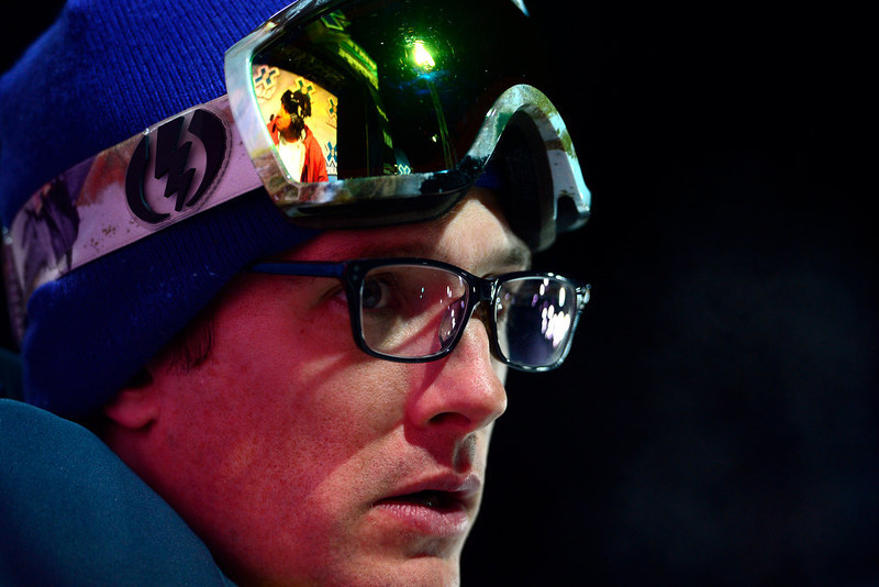 . ASPEN, CO. - JANUARY 24: U.S. halfpipe coach Andy Woods watches the action during warmup for the women\'s ski superpipe final. X Games Aspen Buettermilk Mountain Aspen January 25, 2013 (Photo By AAron Ontiveroz / The Denver Post)