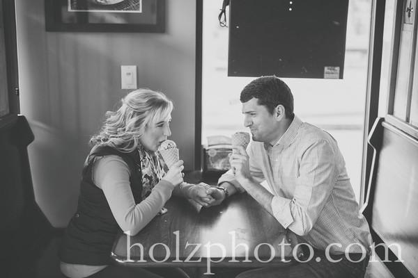 Elizabeth & Jim B/W Engagement Photos