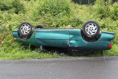 Car Flips on Wildcat Road, Walker Township (6-24-2011)