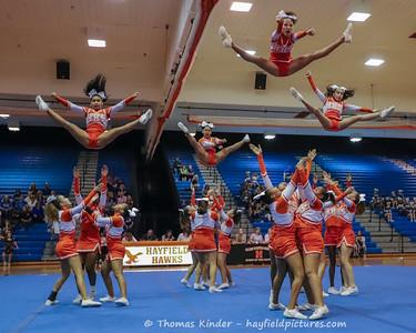 JV Cheer Hawk Challenge 9/26/17