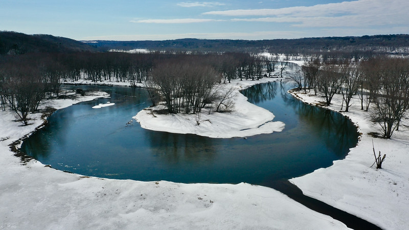 Apple River joining the Saint Croix River