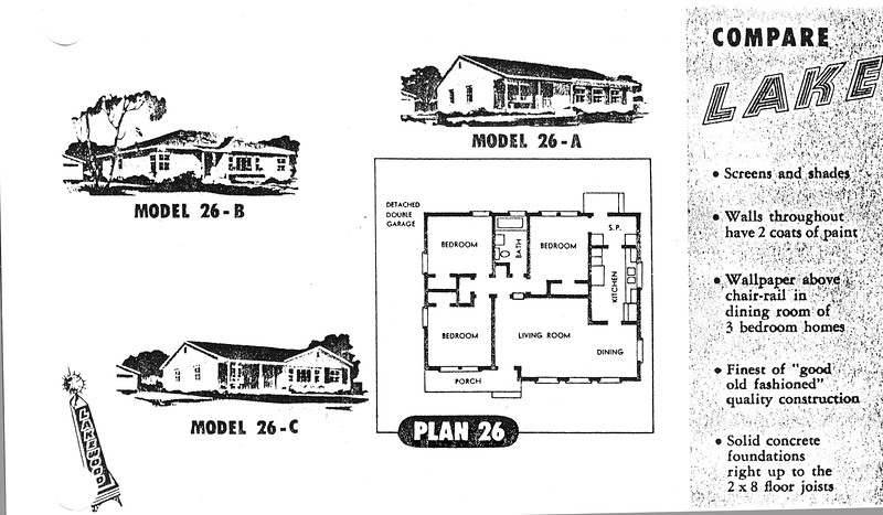 Lakewood Park, Floor Plans for Model 26 A, B, and C
