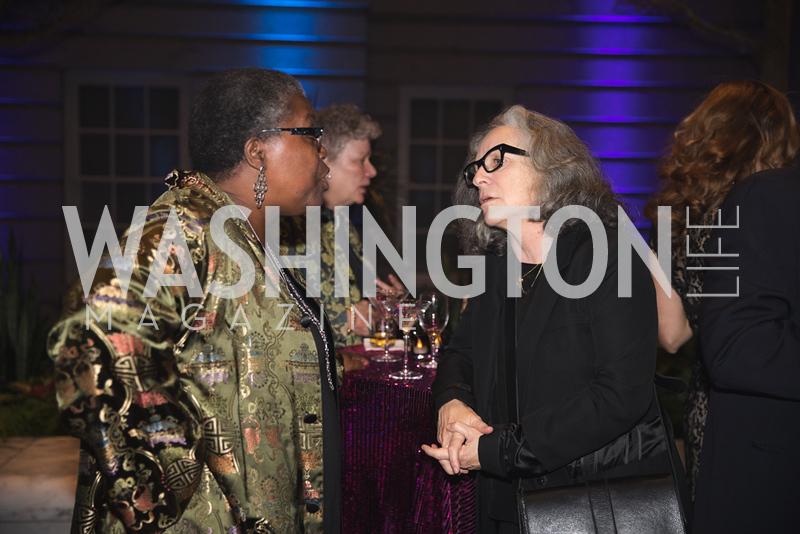 "Aj Verdel, Deborah Kass, Photo by Bruce Allen. National Portrait Gallery ""Face Forward"" Artist Party."
