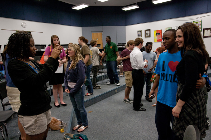 Kelley O'Connor, mezzo-soprano visits the vocal class at the Alexander W. Dreyfoos School of the Arts in West Palm Beach, Florida as part of community outreach from Festival of the Arts BOCA 2010