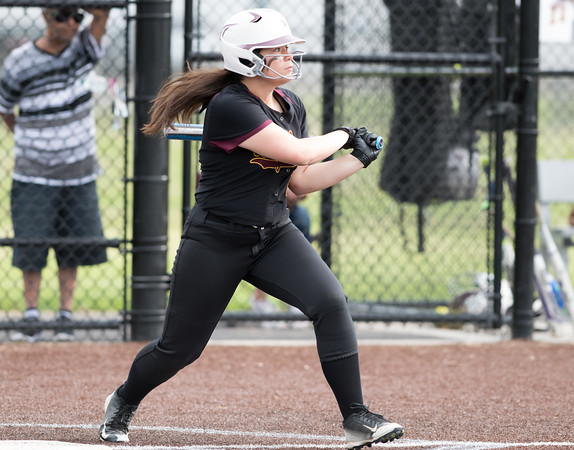05/17/18 Wesley Bunnell | Staff New Britain softball defeated Wethersfield on Thursday afternoon at Chesley Park. Makaila Masterson (8)
