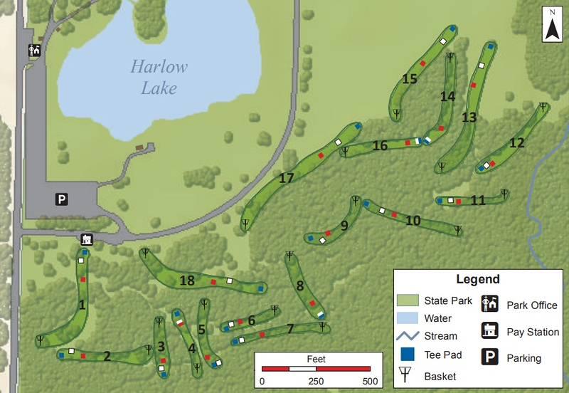 Darien Lakes State Park (Disk Golf Course Map)