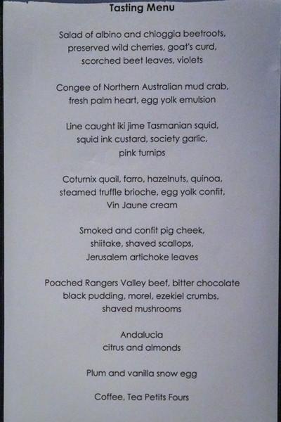 Quay Restaurant - 9th March 2013