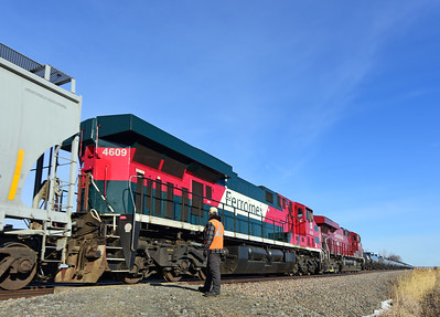 Canadian Pacific 253 & 650. St-Mathieu, Quebec, Mars 28 2020.