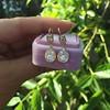 1.51ctw Diamond Mosaic OEC Dangle Earrings 14