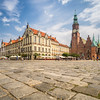 Cobbled Streets of Rynek Square, Wrocław, Poland