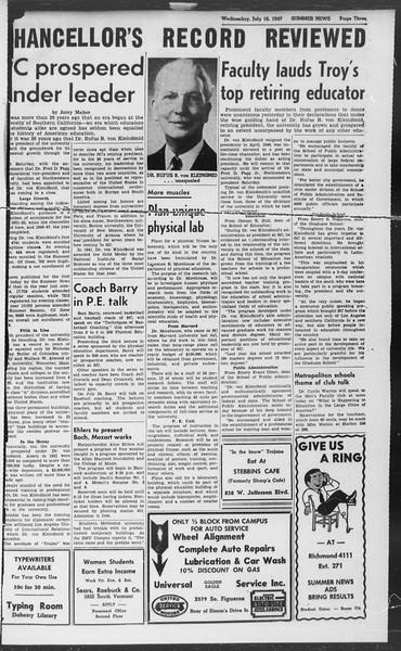 Summer News, Vol. 2, No. 10, July 16, 1947