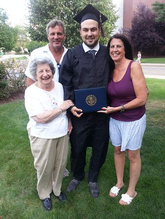 Justin Swarm Graduation from Akron University