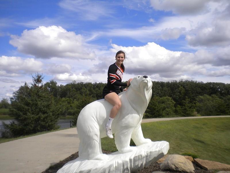 Polor Bear Cheerleader!  September 12, 2015