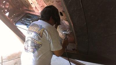 101312 Allen welding on the frame.