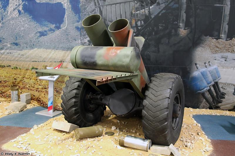 305-мм спаренный миномет кустарного производства (ISIS' 305mm scratch-built mortar)