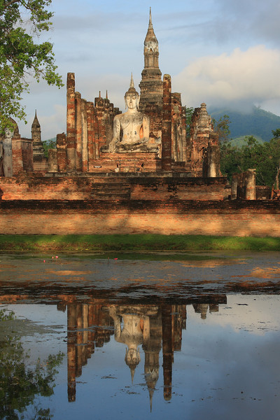 Wat Mahathat - The spiritual center of the Sukhothai Kingdom was founded by  King Si Intharathit (c. 1240-1270).