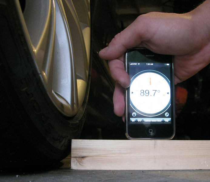 Measuring camber with the Clinometer