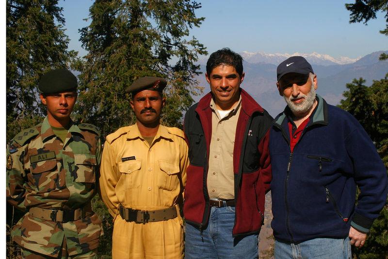 Saying goodbye to Capt Ali as we enter the Muzzafarabad valley.