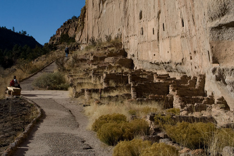 Other residences were built of rocks placed next to the cliff walls.