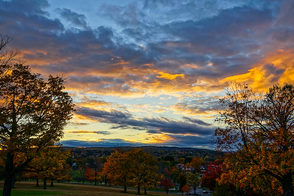 Walnut Hill Park Sunset - Oct 2014