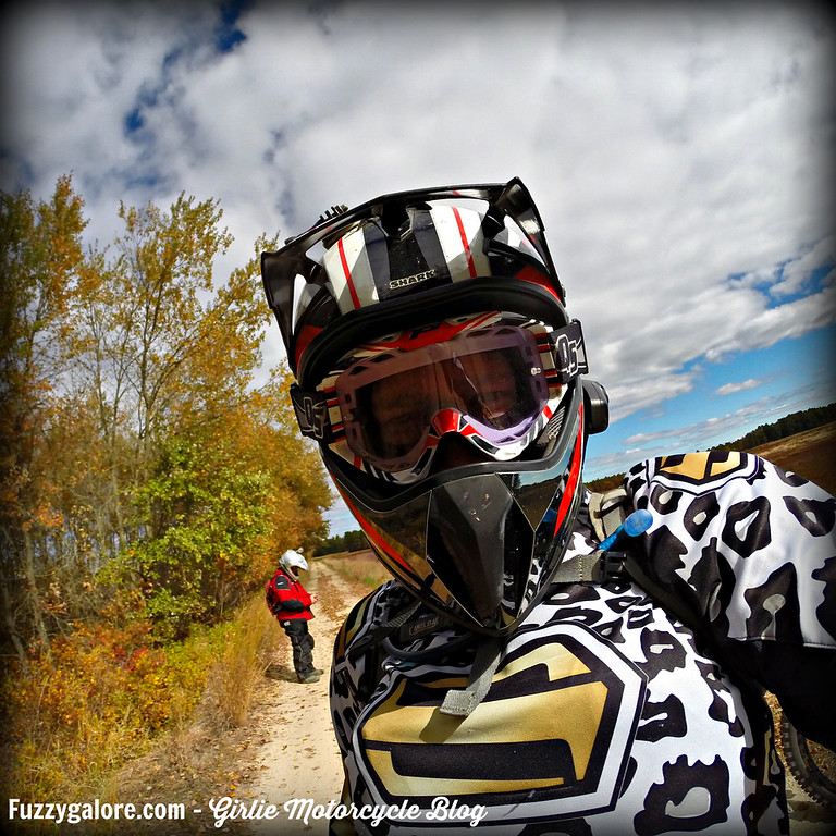Blog Post: 5 fun facts about motorcycles - Fuzzygalore in dirt bike helmet