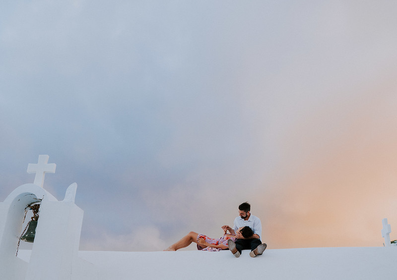 G + J | Emotional Santorini Wedding at Dana Villas