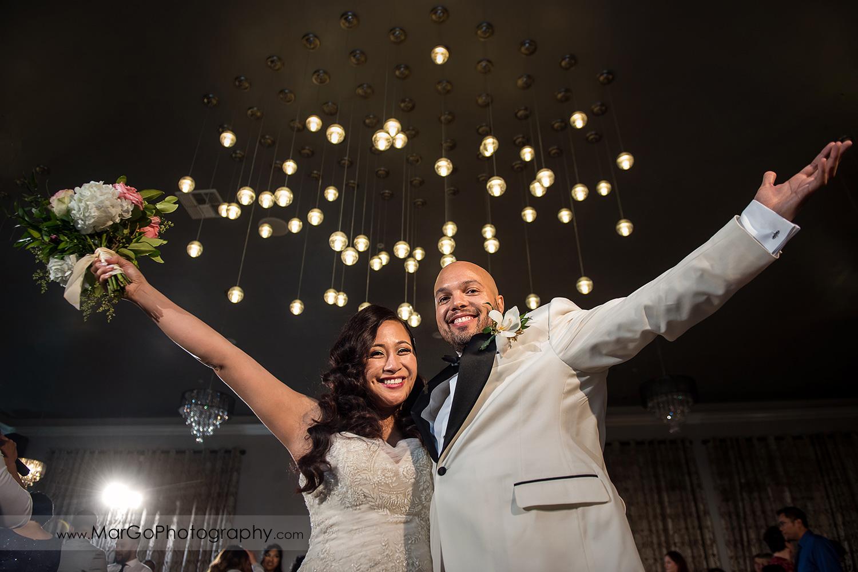 bride and groom during wedding reception at Sunol's Casa Bella