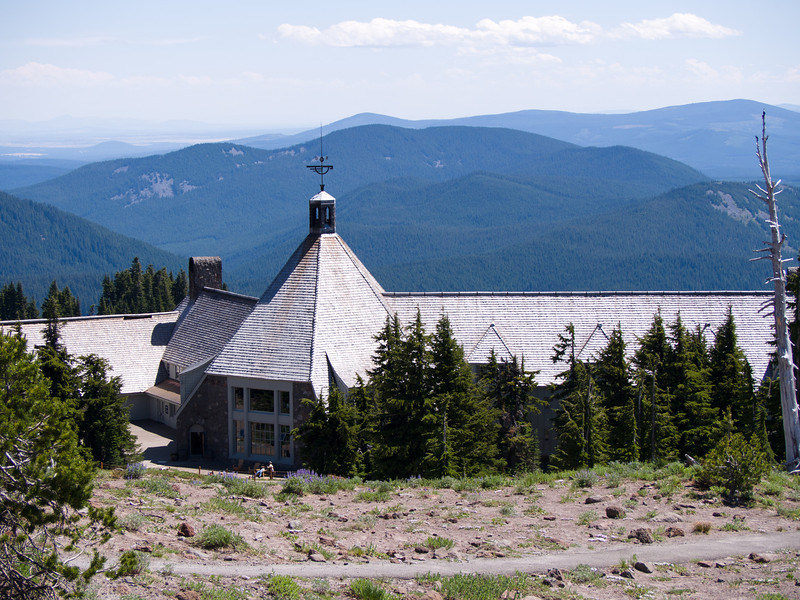 Back of Timberline Lodge