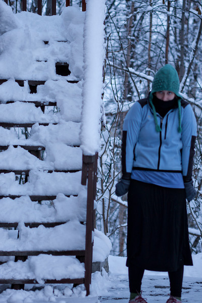 December 18, 2012. Day 347.  One of my many cold poses.  Wasilla, Alaska