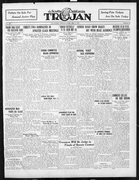 The Southern California Trojan, Vol. 15, No. 83, May 09, 1924