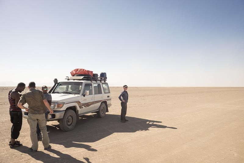 Desert approach to Erta Ale Volcano : Afar Region