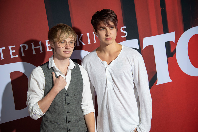 "LOS ANGELES, CALIFORNIA - OCTOBER 29: Colby Brock and Sam Golbach attend the premiere of Warner Bros Pictures' ""Doctor Sleep"" at Westwood Regency Theater on Tuesday October 29, 2019 in Los Angeles, California. (Photo by Tom Sorensen/Moovieboy Pictures,)"
