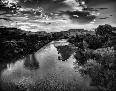 Big Bend in Black and White
